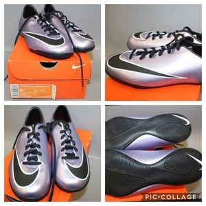 Nwb girls size 6 lilac Nike JR Mercurial cleats